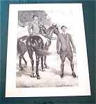 Vintage Clarence Underwood Prints: Victorian Men On Horses