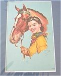 Equestrian Vintage Prints: Jules Erbit: Lady And Horse