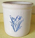 Western Stoneware 2 Gallon Crock - Cobalt Decoration