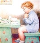 Bessie Pease Gutmann Print: Thank You God: Original Vintage