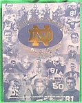 Football Program 1999 - Notre Dame - Boston College