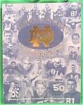 Football Program 1999 - Notre Dame - Boston College