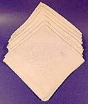 Cream Damask Napkins - Set Of 6
