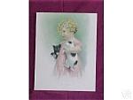 Bessie Pease Gutmann Print Friendly Enemies Girl Puppy Dogs