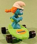 Redhead Smurfette On Skateboard - Peyo
