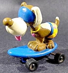 Smurf Puppy On Skateboard - Pvc - Peyo - Applause