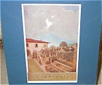 Vintage Art Maxfield Parrish Antique Print Villa