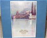 Vintage Art Maxfield Parrish Antique Print Lake Boat