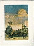 Vintage Maxfield Parrish Print Little Peach Illustration