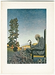 Vintage Art Maxfield Parrish Print Child & Old Man, Grandfather