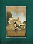Vintage Art Maxfield Parrish Print Villa Medici Rome Italy
