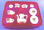 Santa Claus Porcelain Tea Set - 9 Pc. - Mib