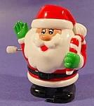 Santa Claus White Knob Windup Toy