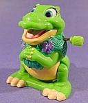 Dinosaur White Knob Windup Toy - 1997 - Burger King