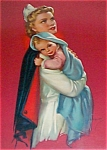 Vintage Nurse & Newborn Baby Print Jules Erbit
