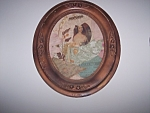 Oval Antique Lady Victorian Collage Wall Art Original