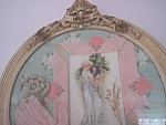 Antique Round Shabby Victorian Chic Collage Wall Art