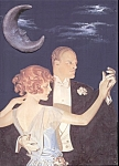 Jc Leyendecker Moon Dancing Couple Altered Art Print