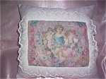 Victorian Shabby Decorative Throw Pillow Angels Cherubs