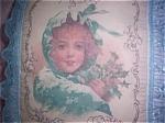 Shabby Handmade Decorative Art Pillow Winter Girl