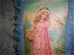 Shabby Victorian Rose Handmade Decorative Pillow Vintage Art
