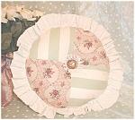 Decorative Round Throw Pillow Patchwork Roses