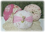 Handmade Cottage Chic Throw Pillows Set Of 3, Roses