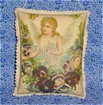Angels Pansies Victorian Art Print Door Wall Drawer Sachet