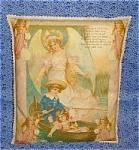 Guardian Angel Children Antique Victorian Art Throw Pillow