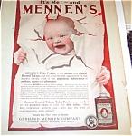 Mennan Ad Illustration: Baby : Children, 1912