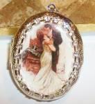 The Kiss Locket Pendant Harrison Fisher Silver