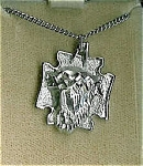 Vintage Sterling Silver Christ Head Necklace Jewelry