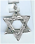 Religious: Star Of David Pendant Sterling Silver