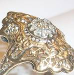 Vintage 10k Gold Victorian Filigree Diamond Ring 10kt 8
