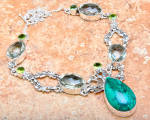 Necklace Chrysocolla Green Amethyst Sterling Silver