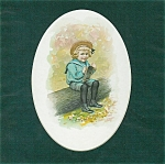 Vintage Print: Victorian Children & Babies: Little Boy