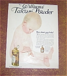 Babies & Children Prints: Williams Talcum Powder Ad 1910