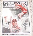 George Brehm Prints, Boys Swimming, Country Gemtleman 1924