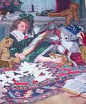 Crewel Childrens Art Girl Paper Dols Bear
