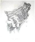 Antique Harrison Fisher Print Illustration Victorian Morning Lady