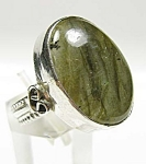 Big Labradorite Oval Ring Sterling Silver Gemstone Rings