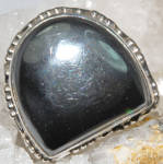 Black Onyx Ring Sterling Silver Large Gemstone Rings