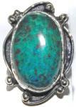 Large Chrysocolla Ring Sterling Silver Gemstone Rings 8
