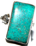 Turquoise Ring Sterling Silver 9.5 Huge Stone