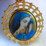 The Madonna Virgin Mother Mary Large Pendant