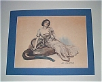 James Montgomery Flagg Print , Lady Pipe