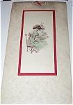 Vintage Calendar Art Hand Painted Gelatine Print Pre-1920