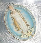 Vintage Mother Mary Our Lady Of Hope Wall Plaque