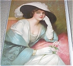 Frank Desch Victorian Lady Antique Print