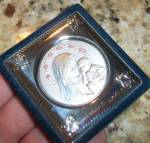 Religious Alter Madonna & Child Sterling Silver Virgin Mary